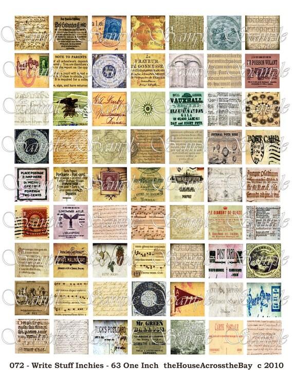Write Stuff Inchies Digital Collage Sheet 1 inch Digital Collage One Inch Digital Collage Scrabble Tile Digitals Pendant Magnets 072