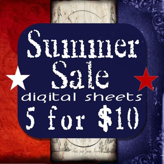 Sale 5 for 10 Dollars Digital Collage Sheets Sale ACEO ATC Tags Circles Squares Grunge Vintage Domino Scrabble Microslide