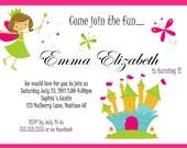 Printable Fairy/Princess/Whimsical/Fairytale  Birthday Invitation