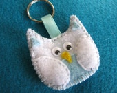 SALE Blue Owl Give a Hoot Keychain