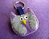 "SALE Purple Owl ""Give a Hoot"" Keychains"