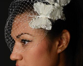 Butterfly Kisses birdcage veil