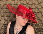 red wide brimmed Kentucky Derby