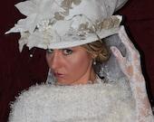 womens white winter  wedding hat