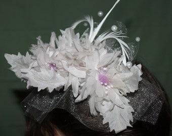 brides bridesmaid flower girl white lavender hair comb