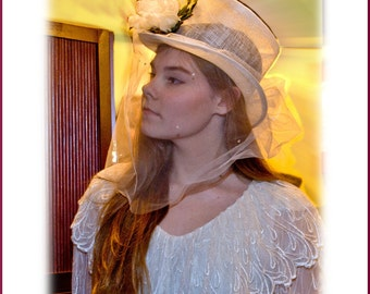 bridal top hat Victorian