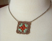 Granny Square Necklace //no.5//