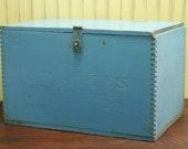 Antique Wood Gun Powder Box