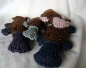 Platypus Family PDF Knitting Pattern