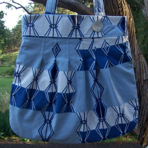 Large Purse Beach Tote Retro Lots of Pockets
