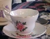 SALE Garden -Tea Cup Birdfeeder - Pink Floral