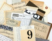 LAST CHANCE: Neutral Scrap Pack - New, Vintage, and Found Papers