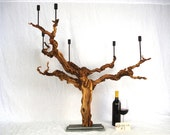 Old Vine Zin Grapevine Candle Holder - Limited Edition - 100% Natural and Organic - VA-OVZ-CH-1