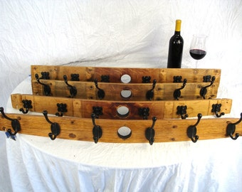 "Wine Barrel Coat Rack - PERCHA - ""Raika"" - 100% recycled"