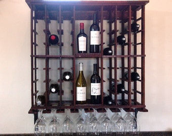 "WINE RACK -- ""Touraine"" -- Hanging Wine Barrel Wine Rack - 100% Recycled - RWH-100"