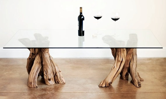 "VINYA - ""Roussanne"" - Old Vine Grapevine Coffee Table -  100% Recycled"