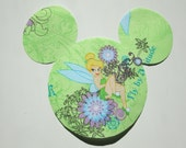 Tinkerbell Minnie or Mickey Mouse Iron On Applique