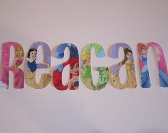 Princess Name Iron On Applique Letters DIY