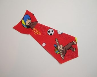 Curious George Iron On Tie Applique