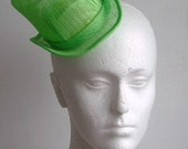 Sinamay Mini Top Hat  -Lime