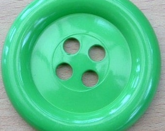 Sale - Extra Large Button - Green was 3.00 now 1.50