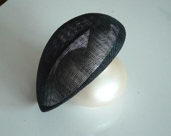 Sinamay Beret - Black