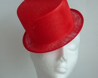 Sinamay Top Hat - Red