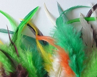 Loose Hackle Feathers - Lot of 50 -Assorted