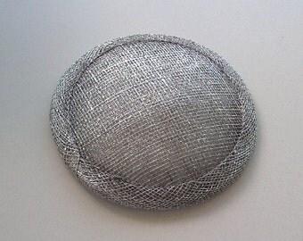Sinamay Fascinator Base - Silver