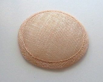Sinamay Fascinator Base - Barley
