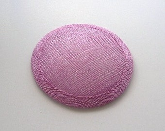 Sinamay Fascinator Base - Dark Lilac