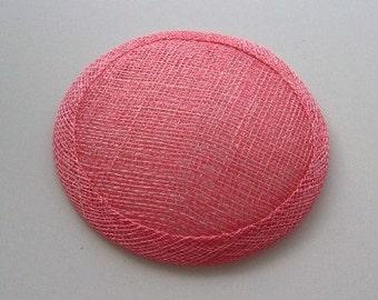 Sinamay Fascinator Base - Flamingo