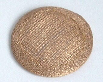Mini Sinamay Fascinator Base - Gold