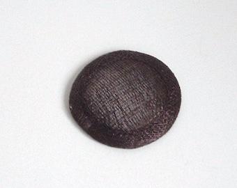 Mini Sinamay Fascinator Base - Chocolate