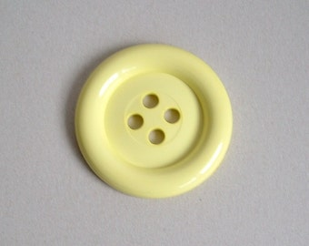Sale Extra Large Button - Yellow was 3.00 now 1.50