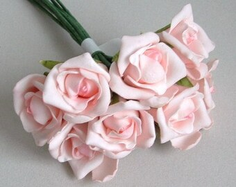 Bunch of 8 Foam Rose Buds - Pink