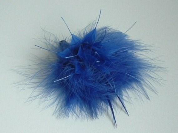 SALE - Royal Blue Feather Arrangement WAS 4.00 NOW 3.00