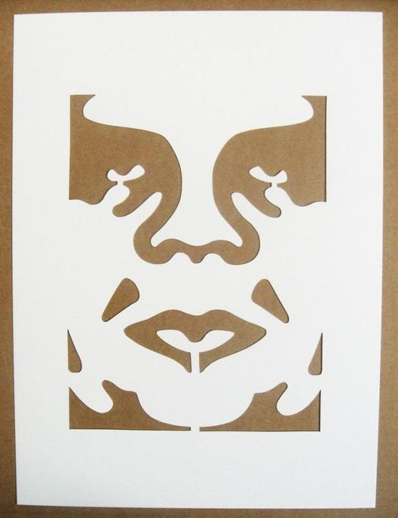 Items similar to Shepard Fairey Obey Stencils Giant Star ...