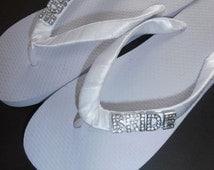 BRIDE Wedding Flip Flops