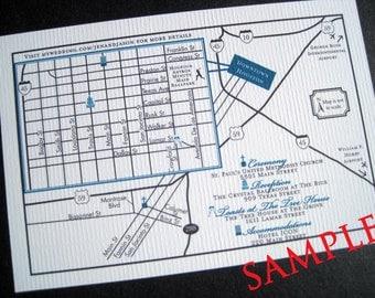 Custom Wedding Map-Printable