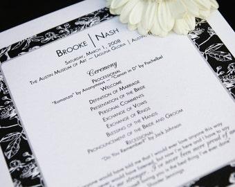 Custom Program or Menu to Match Your Wedding Invitations-Printable