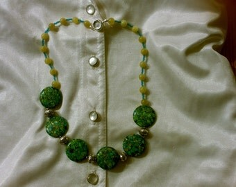 jade/conglomerate stone-dockside reflections necklace
