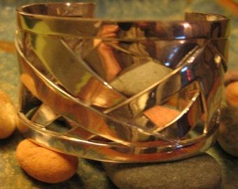 Weave Sterling Silver Cuff Bracelet