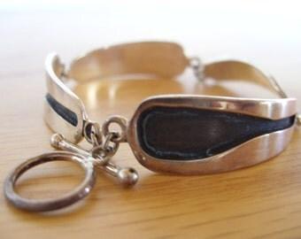 Channel Sterling Silver Bracelet