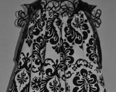 Custom listing for Stephanie Black and White Damask Pillow Case Dress