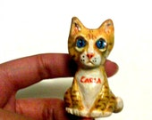 Reserved for Stacey - Custom Cat Sculpture Polymer Clay - Pet Totem