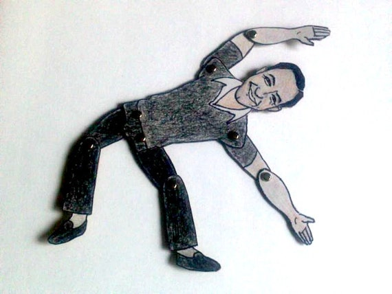 Gene Kelly Articulated Paper Doll - Gotta Dance - 1930s Celebrity
