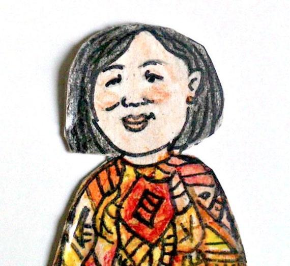 Happy Woman - Art Magnet - Anika