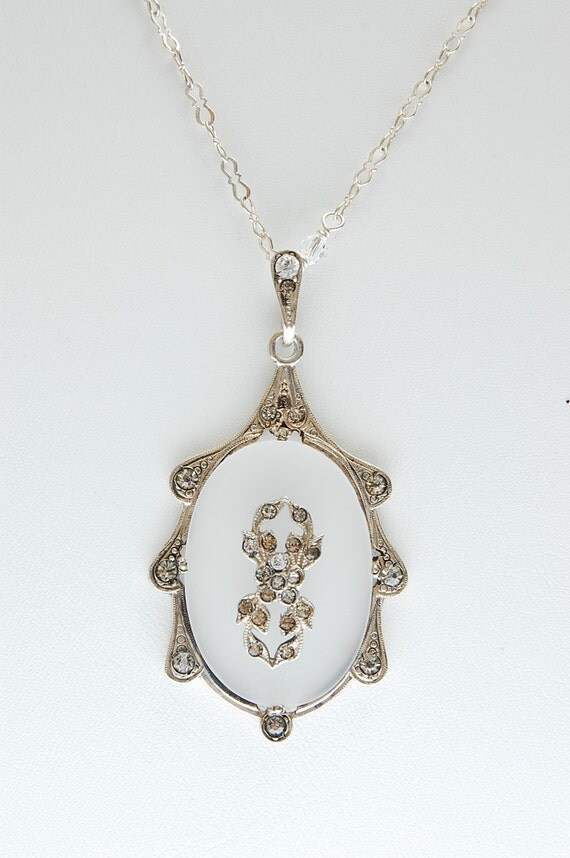 camphor glass pendant necklace