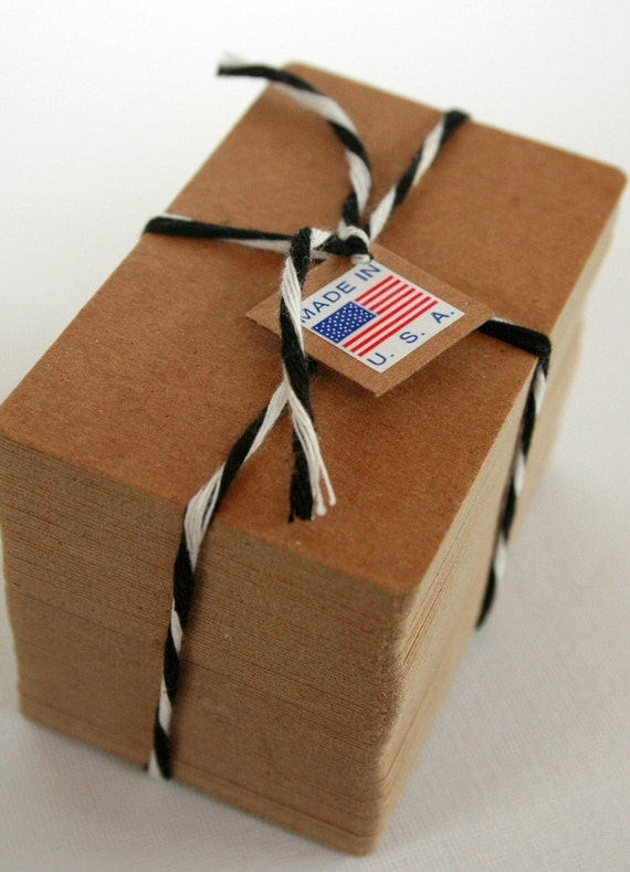 Business Card Size Heavy Kraft Recycled Chipboard Blanks - set of 500 - Crafting or Letterpress or Stamping
